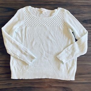 LOFT light blue lightweight sweater